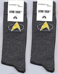 Socks - 2 pairs of STAR TREK - Communicator logo - Next Generation - One size fits all of Filmwelt Berlin