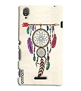 Omnam Leaves On Arrow Hanging Printed Designer Back Cover Case For Sony Xperia T3
