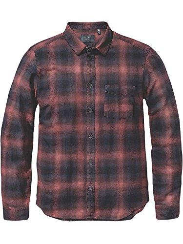 Camicia A Maniche Lunghe Globe Exchange Oxblood (M , Rosso)