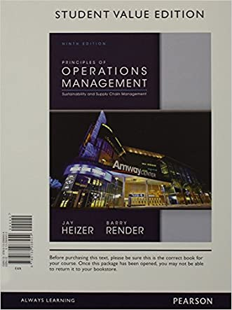 Principles of Operations Management, Student Value Edition & Student CD for Operations Management