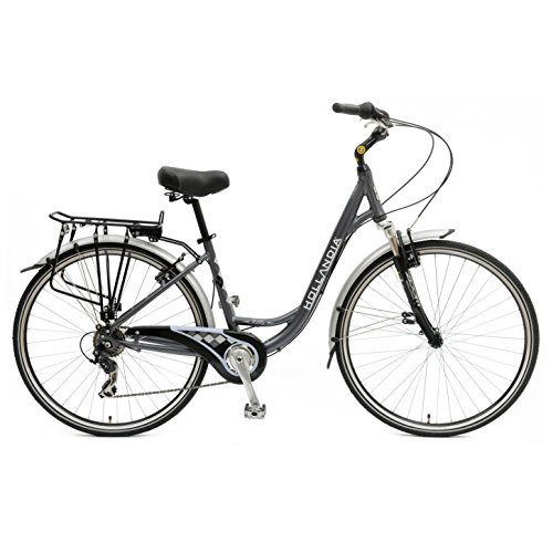 Hollandia Villa Commuter Bicycle (700Cm), Anthracite front-508147