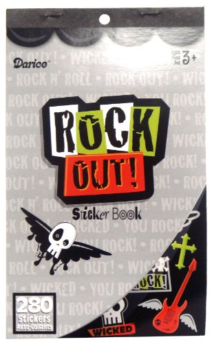 WeGlow International Sticker Book - Rock Out (Pack Of 4) - 1