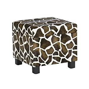 Amazon.com: Southern Enterprises, Inc Giraffe Faux Leather Storage ...