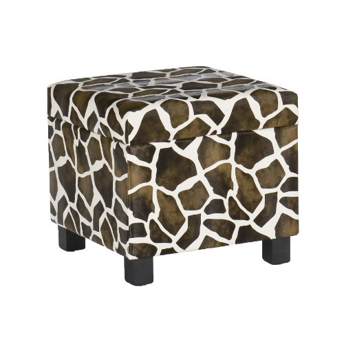 Southern Enterprises, Inc Giraffe Faux Leather Storage Ottoman