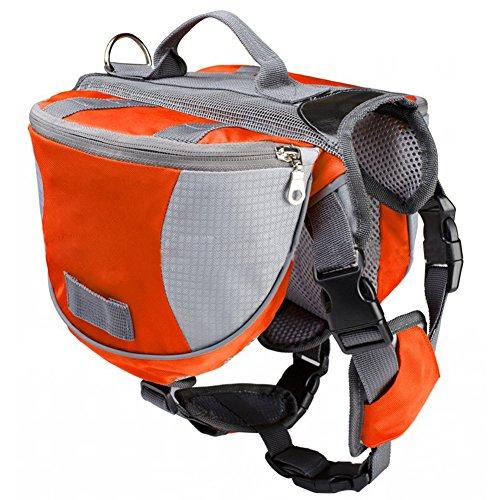 Artikelbild: Haustier Rucksack - TOOGOO(R) Haustier Rucksack Hund Satteltasche mittel und gross Hunde Harness Tasche Ideal fuer Outdoor Wandern Camping Trainings-M orange