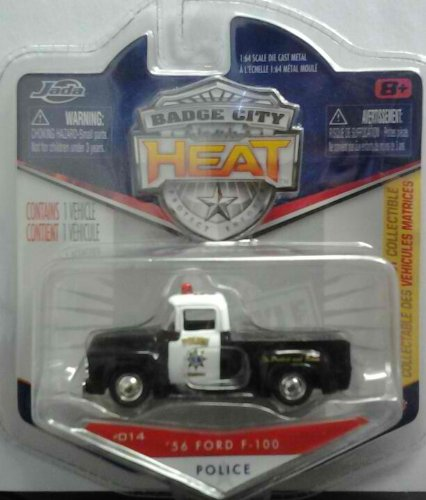 Jada Badge City Heat- 56' Ford F-100 Police
