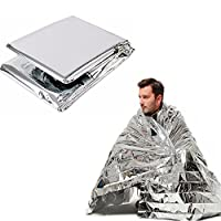 Emergency Blanket Covers the body when accidents happen to avoid body temperature dropping. Can keep body warm when car breaks down at night or in cold area. Can be used as reflective film to send signal to rescuer. Can open as canopy in a rainy day....