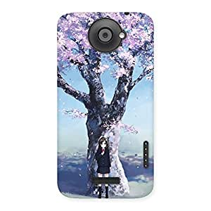 Ajay Enterprises remier Cherry Blossom Multicolor Back Case Cover for HTC One X