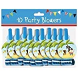 Pack 10 Childrens Birthday Party Blowers - Boys Pirate