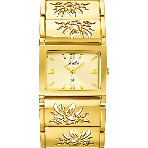 Certus 631725 - Ladies Watch - Analogue Quartz - Golden Dial - Golden Metal Strap