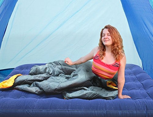 Milestone-Camping-Double-Flocked-Airbed-Blue