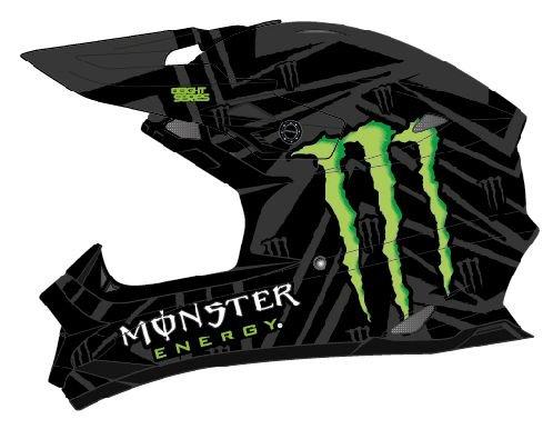 Oneal Ricky Dietrich Replica 812 Monster Helm, Farbe Monster, Größe XS