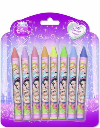 Disney Princess 8 Piece 'Wax' Crayon Stationery