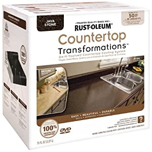 Rustoleum Countertop Paint Amazon : Rust-Oleum Countertop Transformations Kit, Java Stone: Amazon.ca ...