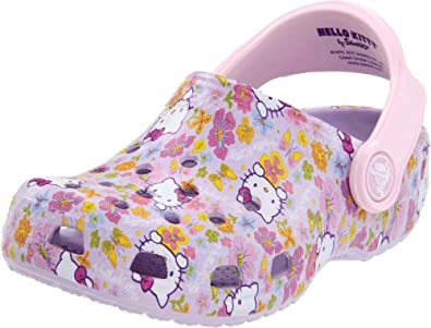 Crocs Hello Kitty Classic Clog (Toddler/Little Kid),Lavendar/Bubblegum,12-13 M US Little Kid