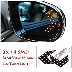 1 Pair of SMD LED Arrow Panel Lights for Car Side Mirror Turn Indicator : Yellow