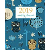 2019 Weekly Planner: Calendar Schedule Organizer Appointment Journal Notebook and Action day cute owls and flower - floral design (Weekly & Monthly Planner 2019) (Volume 1)