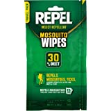 Repel 94100 Sportsmen 30-Percent Deet Mosquito Repellent Wipes, 15 Count