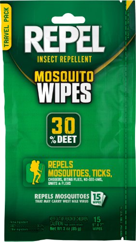 Repel 94100 Sportsmen 30Percent Deet Mosquito Repellent Wipes, 15 Count Picture