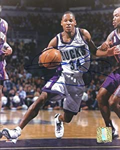 Ray Allen Autographed Hand Signed Milwaukee Bucks 8x10 Photo by Real Deal Memorabilia