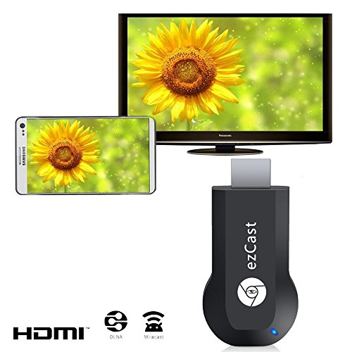 J-Deal EZCast M2 Smart TV Stick WIFI Display Dongle HDMI Streaming Media Player Miracast DLNA Airpaly Output 1080p Full TV Video Windows iOS Andriod Mini Pc Player Display Adapter Support Dlna Ipush Tv Receiver Box Dongle Google Chromecast