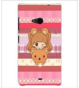 PrintDhaba Cartoon D-4254 Back Case Cover for MICROSOFT LUMIA 535 (Multi-Coloured)