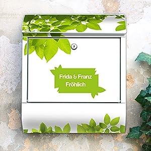 Design Briefkasten 38x42x11 von banjado mit Motiv Ihr eigener Text
