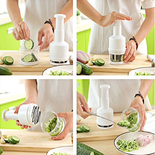 Pressing Vegetable Onion Garlic Chopper Cutter Slicer Peeler Dicer Shredders Multifunctional Kitchen Gadgets Cooking Tools (Kitchenware Onion Cutter compare prices)