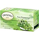 Twinings, Herbal Tea, Pure Peppermint, Caffeine Free, 25 Tea Bags, 1.76 oz (50 g)