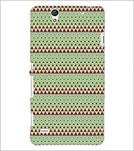PrintDhaba Pattern D-5243 Back Case Cover for SONY XPERIA C4 (Multi-Coloured)