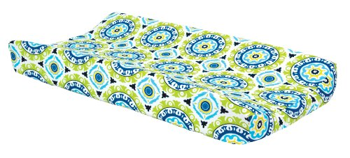 Trend Lab Waverly Solar Flair Changing Pad Cover, Blue/Green