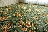 フリーカット タフト カーペット ソレイユ グリーン 江戸間 約 261×261 cm 約 4.5畳