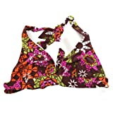 Clearance Speedo Ladies/Womens Patterned Swimwear Bikini Top (GB 34D/DD (Chest 85cm)) (Brown With Pattern)
