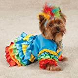 Casual Canine Polly Parrot Costume Med Blue