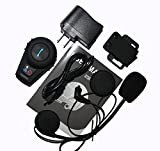 Allnice® 500m Handfree Waterproof Bluetooth BT Interphone Bluetooth Motorcycle Motorbike Helmet Intercom Headset Headphone For Ski/ATV/Motorcycle Sports