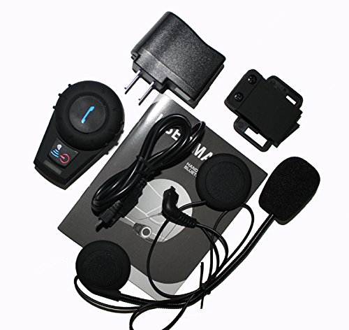Allnice® 500M Handfree Waterproof Bluetooth Bt Interphone Bluetooth Motorcycle Motorbike Helmet Intercom Headset Headphone For Ski/Atv/Motorcycle Sports