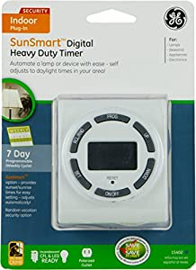 GE Sun Smart  7-Day On/Off Plug-In Digital Timer with Random Security Feature