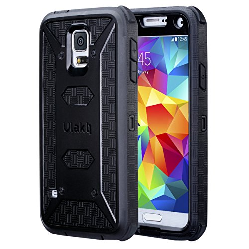 ULAK Galaxy S5 Case [KNOX Armor] Heavy Duty Four Corners Protection Cover Heavy Duty Case for Samsung Galaxy S5 (2014) -Black (Samsung S5 Mini Case For Men compare prices)