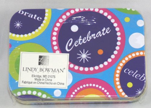 Tin gift card holder box celebration arts entertainment