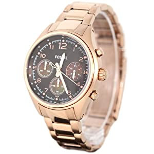 Amazon.com: Fossil Women's CH2793 Flight Chocolate Dial Watch: Fossil