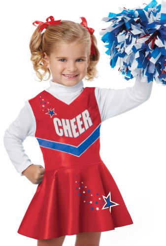 Classic Patriotic Cheerleader Toddler Costume