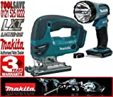 MAKITA BML185 18V Cordless Torch Plus BJV180Z 18V Li-Ion Jigsaw (Bare Unit)