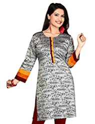 Cotton Silk Long Anarkali Long Printed Kurtis