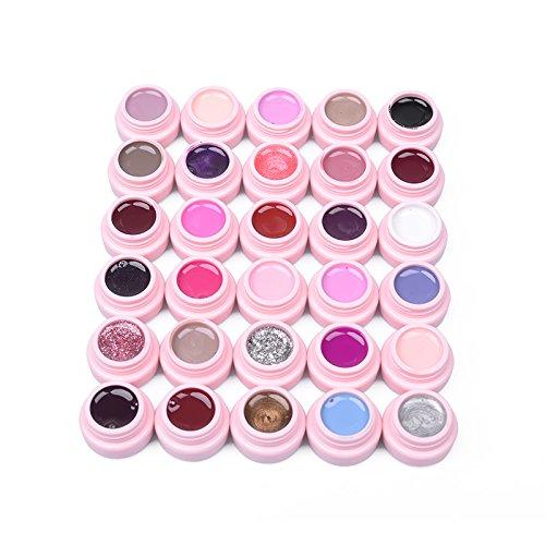 frenshion-set-of-30-pcs-soak-off-uv-led-gel-polish-base-top-nail-art-manicure-kit-of-30-colors