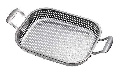 Emeril J1260364 Outdoor Grilling Stainless Steel Rectangular Roaster Pan, Silver