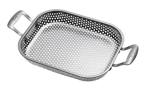 Emeril J1260364 Outdoor Grilling Stainless Steel Rectangular Roaster Pan, Silver