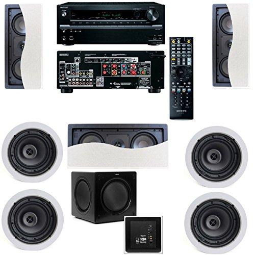 Klipsch R-2502-W Ii In-Wall Speaker(Lcr) (7.1) Onkyo Tx-Nr636 7.2 Channel Network A/V