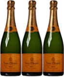 Veuve Clicquot Ponsardin Yellow Label Brut Non Vintage Champagne 75 cl (Case of 3)