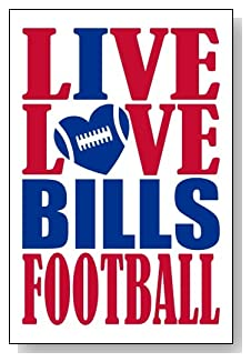 Live Love I Heart Bills Football lined journal - any occasion gift idea for Buffalo Bills fans from WriteDrawDesign.com