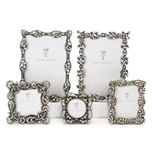 Two's Company Jeweled Frames, Set of 5